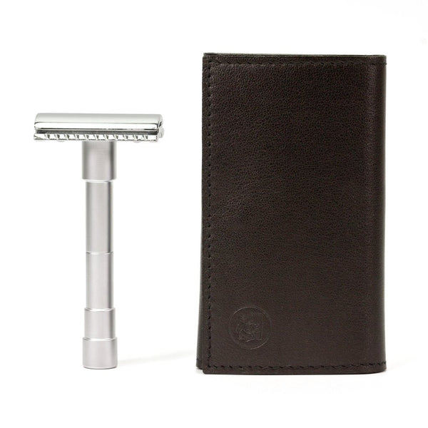 Merkur | 46C Double Edge Safety Razor | Travel Set | Razors | Shaving Accessories | Strivezy