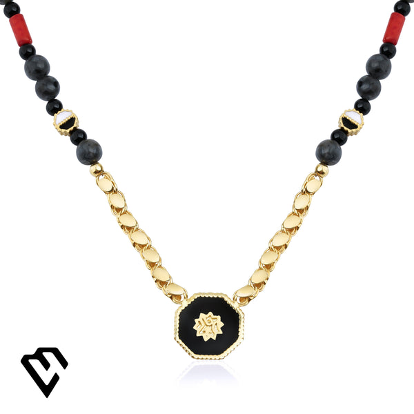 Adel Bead Necklace Kolye Luna Merdin - Strivezy
