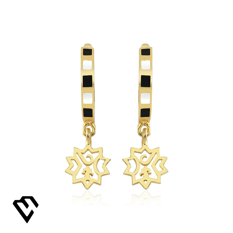 Adel Small Earrings Gold Küpe Luna Merdin - Strivezy