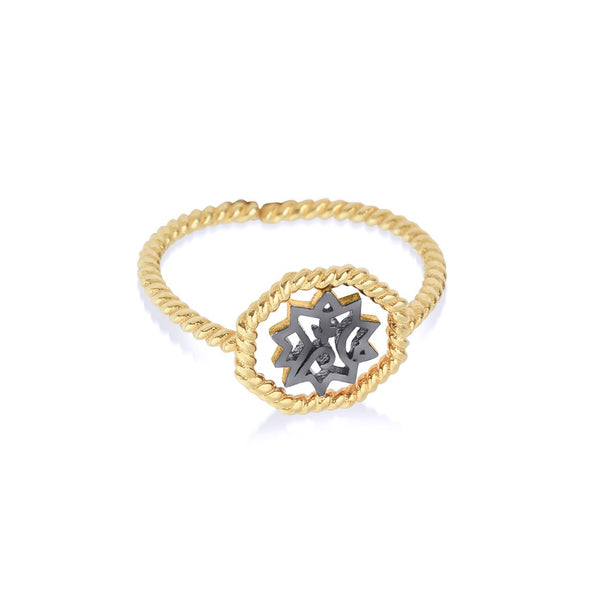 Adel Twist Ring Yüzük Luna Merdin Gold - Strivezy