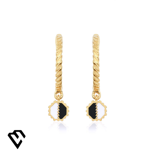 Aden Twist Earrings Gold Küpe Luna Merdin - Strivezy