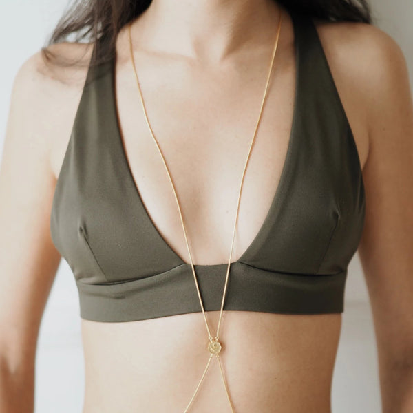 Alka Body Chain Kolye Luna Merdin Gold - Strivezy
