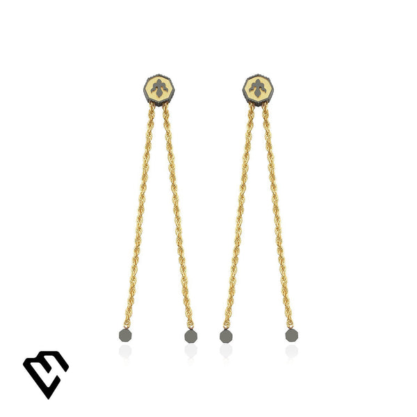 Alka Earrings Küpe Luna Merdin Gold - Strivezy