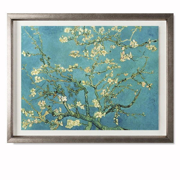 "Almond Blossom, 1890 Smith & Co Galleries 20"" x 16"" Warm Silver 5mm Luxe Floated - Strivezy"
