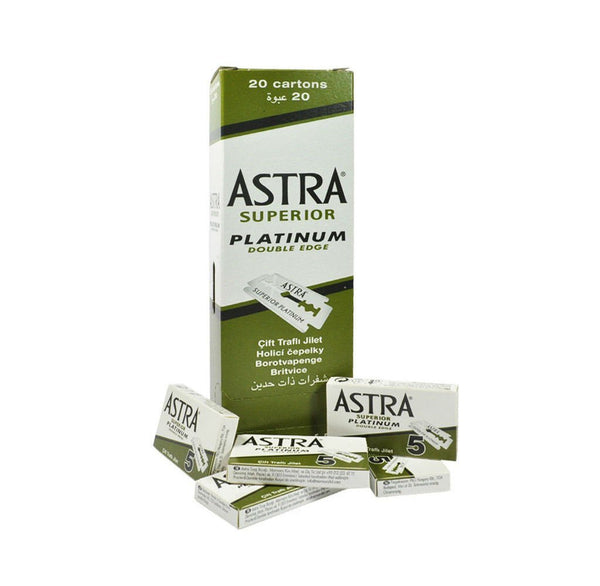 Astra Superior Platinum Double Edge Razor Blades (Green) Astra - Strivezy