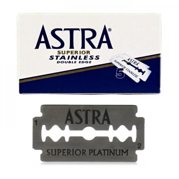 Astra Superior Stainless Double Edge Razor Blades (Blue) Astra - Strivezy