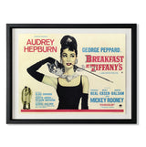 "Breakfast At Tiffany's Smith & Co Galleries 40"" x 31"" Black 5mm Luxe Floated - Strivezy"