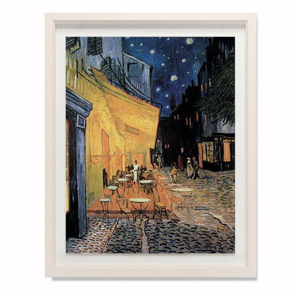 "Cafe Terrace at Night Smith & Co Galleries 23"" x 28"" Cream 5mm Luxe Floated - Strivezy"