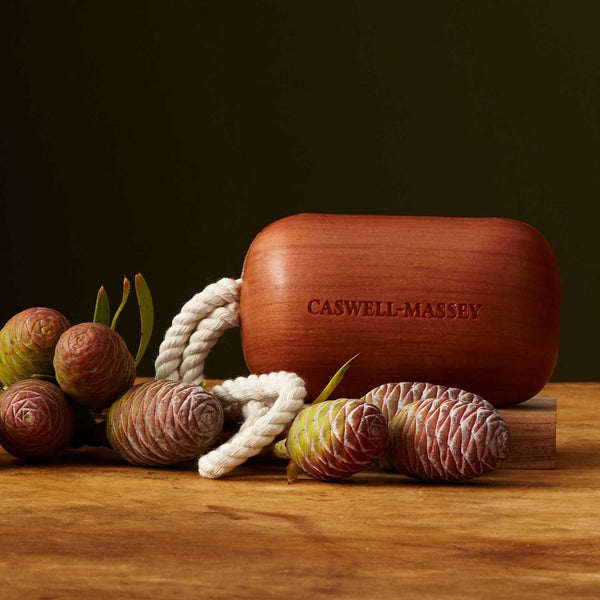 Classic Woodgrain Sandalwood Soap on a Rope Bar Soap Caswell-Massey - Strivezy