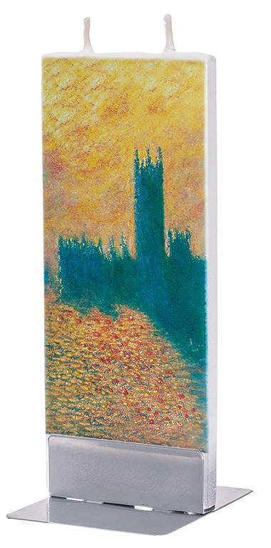 "Claude Monet ""Houses of Parliament"" Flat Candle Flat Candle Flatyz - Strivezy"