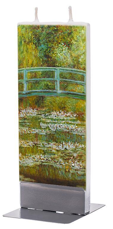 "Claude Monet ""The Japanese Footbridge"" Flat Candle Flat Candle Flatyz - Strivezy"