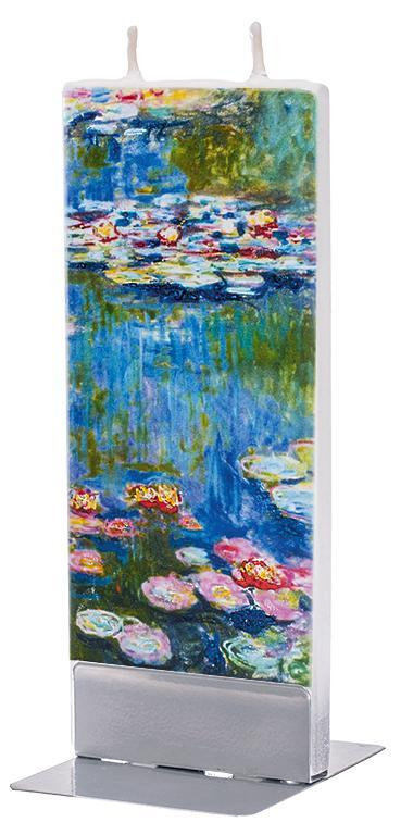 "Claude Monet ""Water Lilies"" 1916 Flat Candle Flat Candle Flatyz - Strivezy"