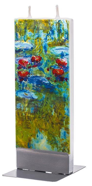 "Claude Monet ""Water Lilies"" 1919 Flat Candle Flatyz - Strivezy"