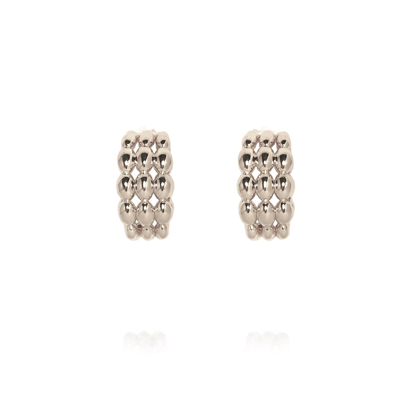 Atelier Orman | Dew Earrings | Small | White Rhodium | Strivezy