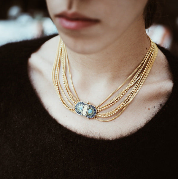 Enki Chain Necklace Gold Kolye Luna Merdin - Strivezy