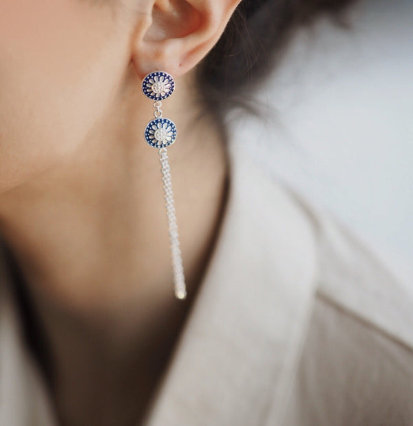 Enki Duo Earrings Küpe Luna Merdin - Strivezy