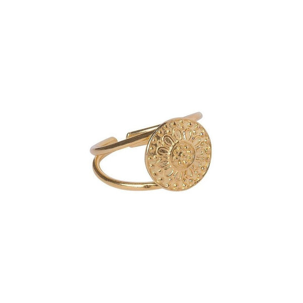 Enki Ring Small Yüzük Luna Merdin Gold - Strivezy
