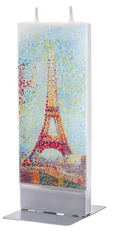 "Georges Seurat ""The Eiffel Tower"" Flat Candle Flat Candle Flatyz - Strivezy"