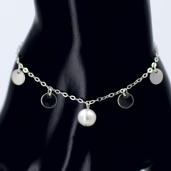 Hailee Bracelet in Sterling Silver with White Pearl Maria Kamara Designs - Strivezy