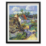 "Houses At Auvers, 1890 Smith & Co Galleries 28"" x 24"" Black 5mm Luxe Floated - Strivezy"