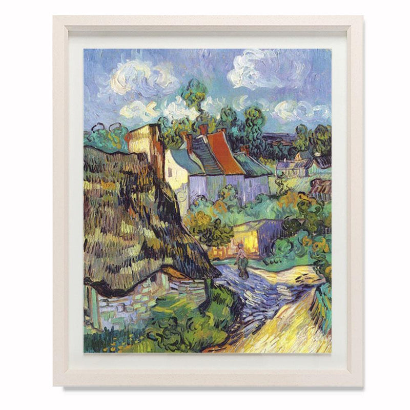 "Houses At Auvers, 1890 Smith & Co Galleries 28"" x 24"" Cream 5mm Luxe Floated - Strivezy"