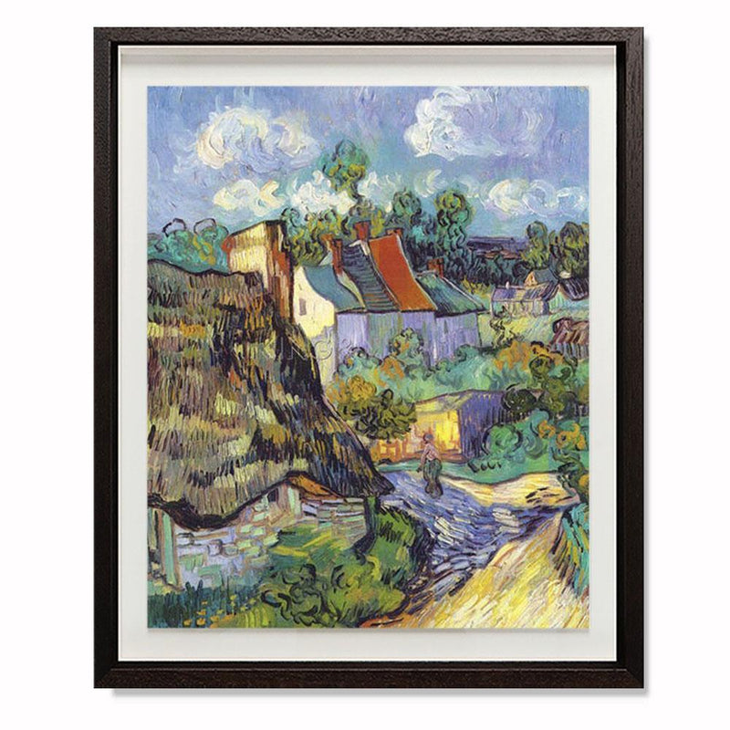 "Houses At Auvers, 1890 Smith & Co Galleries 28"" x 24"" Modern Wood 5mm Luxe Floated - Strivezy"
