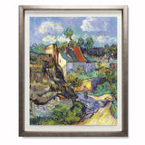 "Houses At Auvers, 1890 Smith & Co Galleries 28"" x 24"" Warm Silver 5mm Luxe Floated - Strivezy"