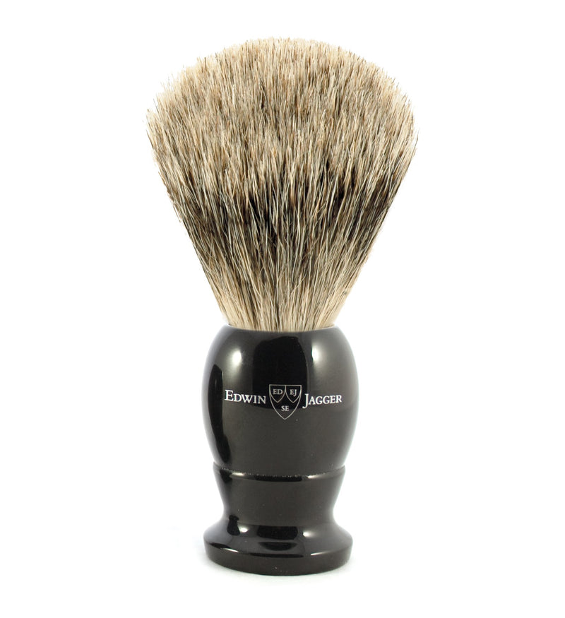 Edwin Jagger | Imitation Ebony Best Badger Shaving Brush | Strivezy