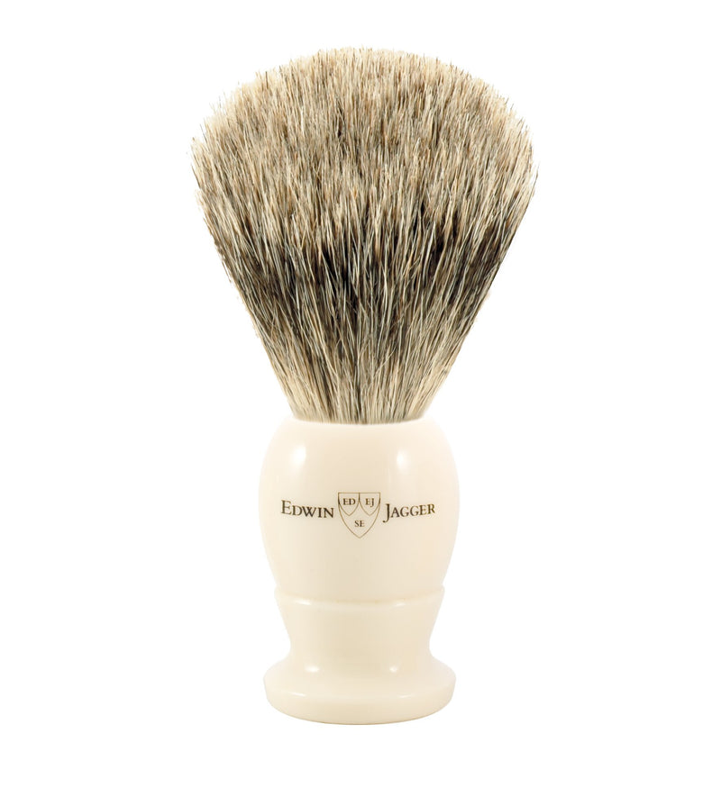 Imitation Ivory Best Badger Shaving Brush Edwin Jagger - StrivezyEdwin Jagger | Imitation Ivory Best Badger Shaving Brush | Strivezy