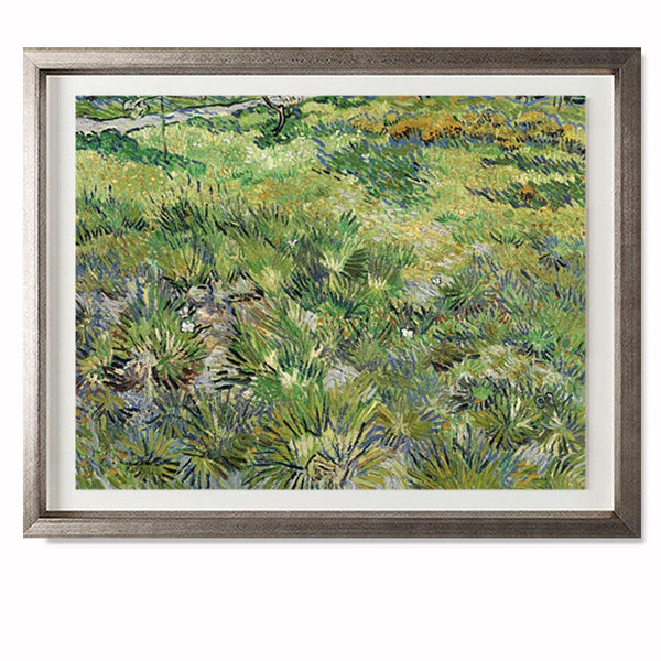"Long Grass With Butterflies Smith & Co Galleries 28"" x 23"" Warm Silver 5mm Luxe Floated - Strivezy"