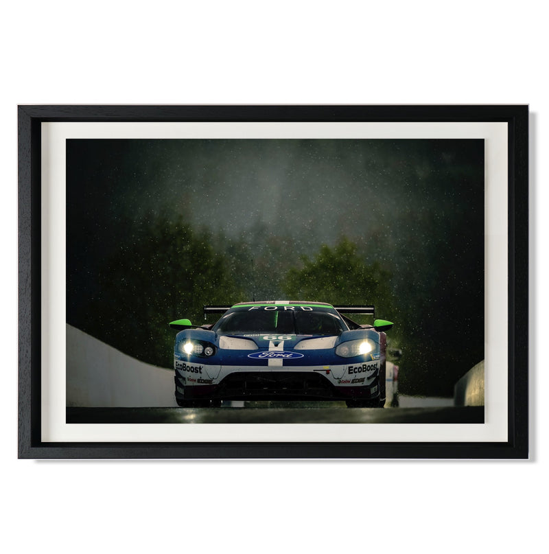 "No. 66 Ford GT GTE Pro Smith & Co Galleries 24"" x 16"" Black 5mm Luxe Floated - Strivezy"