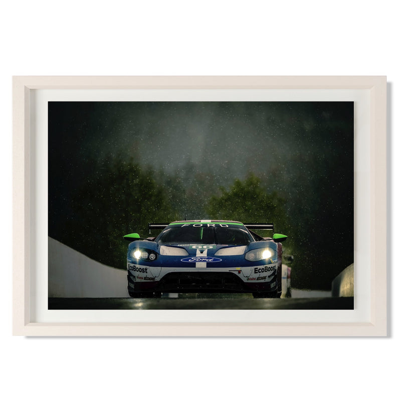 "No. 66 Ford GT GTE Pro Smith & Co Galleries 24"" x 16"" Cream 5mm Luxe Floated - Strivezy"