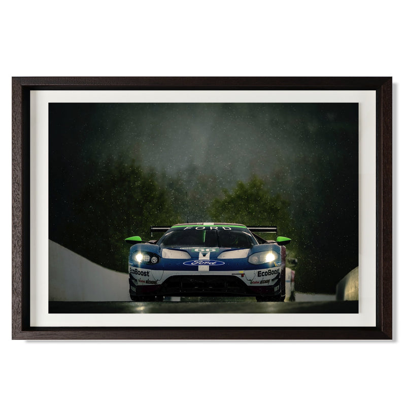 "No. 66 Ford GT GTE Pro Smith & Co Galleries 24"" x 16"" Modern Wood 5mm Luxe Floated - Strivezy"