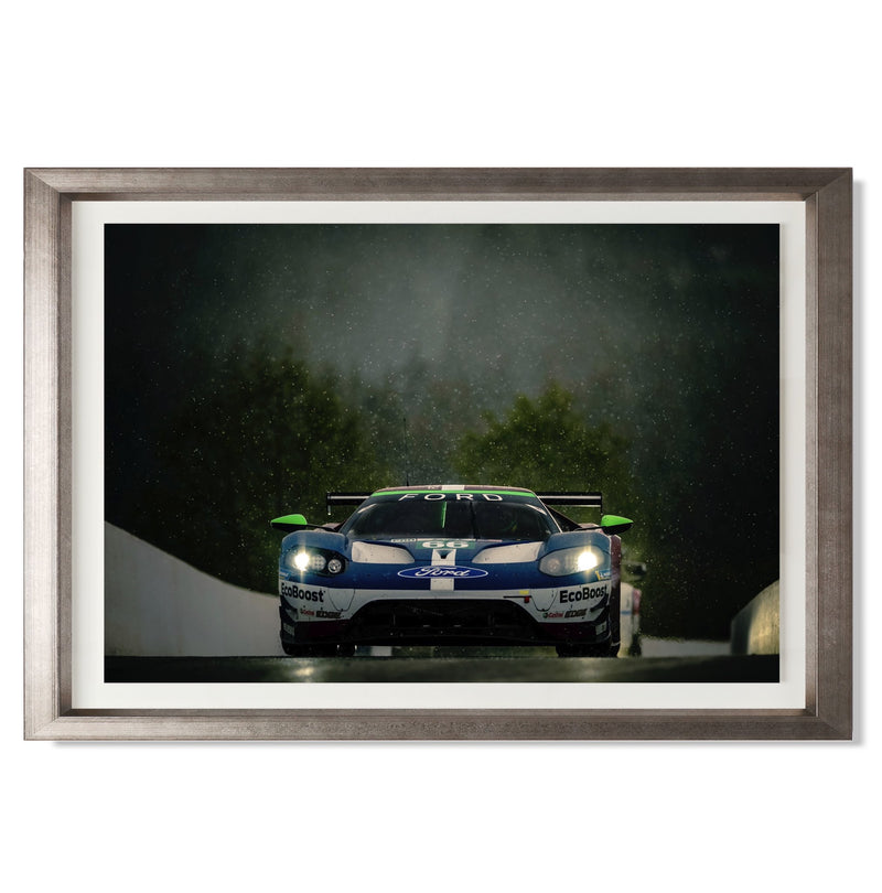 "No. 66 Ford GT GTE Pro Smith & Co Galleries 24"" x 16"" Warm Silver 5mm Luxe Floated - Strivezy"