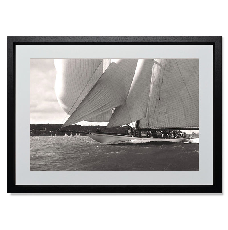 "Ocean Racing I Smith & Co Galleries 24"" x 18"" Black 5mm Luxe Floated - Strivezy"