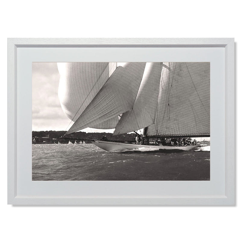 "Ocean Racing I Smith & Co Galleries 24"" x 18"" White 5mm Luxe Floated - Strivezy"