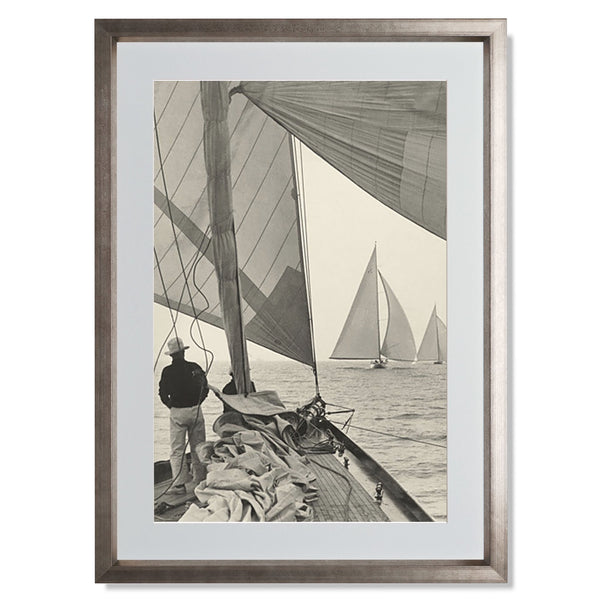 "Ocean Racing II Smith & Co Galleries 16"" x 24"" Warm Silver 5mm Luxe Floated - Strivezy"