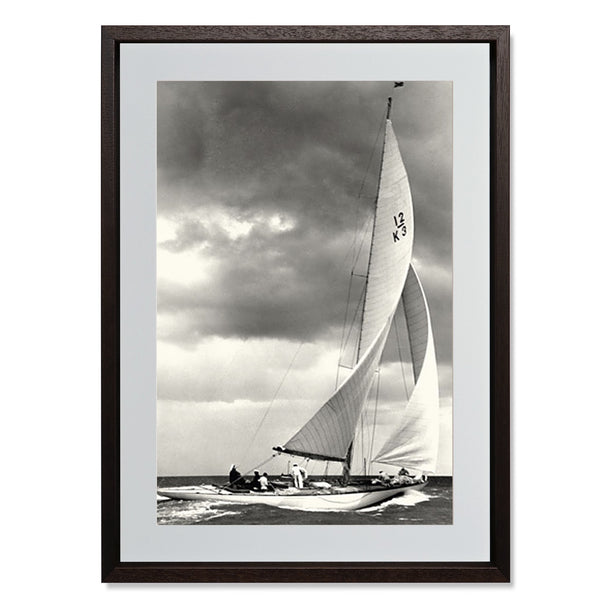 "Ocean Yacht Racing I Smith & Co Galleries 16"" x 24"" Modern Wood 5mm Luxe Floated - Strivezy"