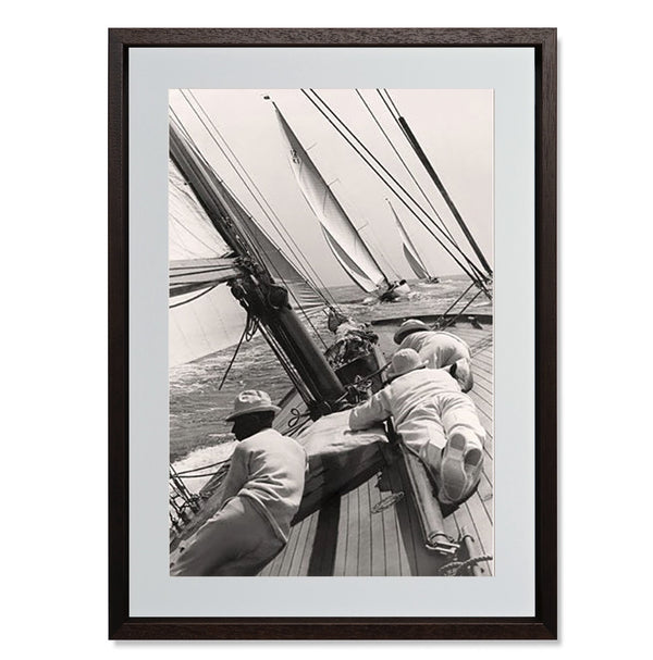 "Ocean Yacht Racing II Smith & Co Galleries 18"" x 24"" Modern Wood 5mm Luxe Floated - Strivezy"