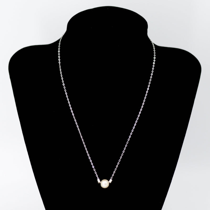 Pearl Necklace in Sterling Silver Maria Kamara Designs - Strivezy
