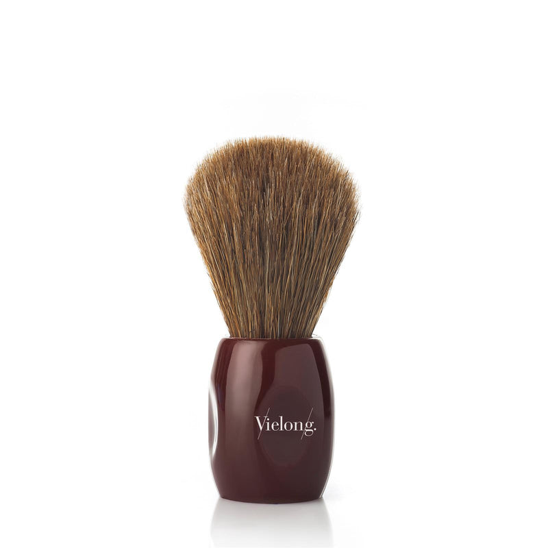 Vie Long | Peleon Red Handle Shaving Brush | Horse Hair | Strivezy | Shaving Accessories