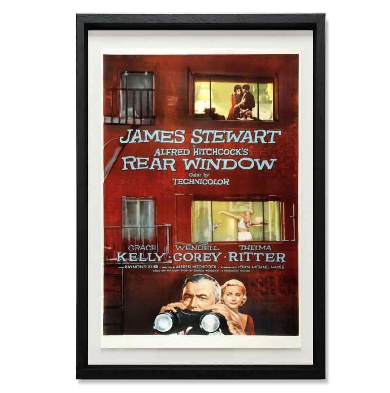 "Rear Window Smith & Co Galleries 27"" x 40"" Black 5mm Luxe Floated - Strivezy"