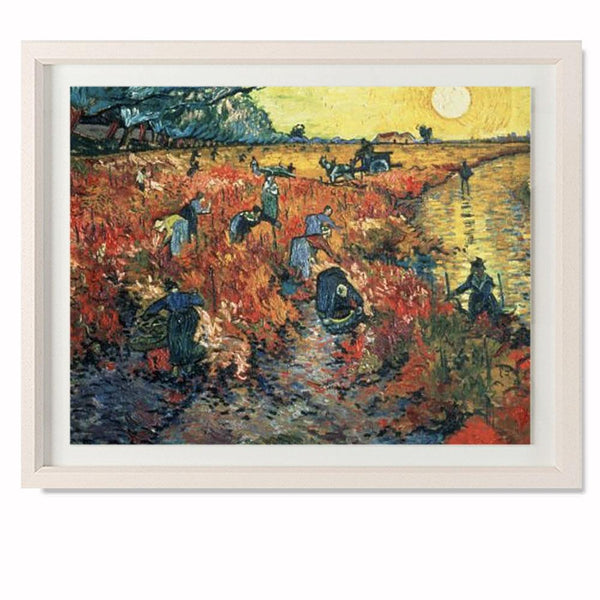 "Red Vineyards at Arles, 1888 Smith & Co Galleries 28"" x 23"" Cream 5mm Luxe Floated - Strivezy"