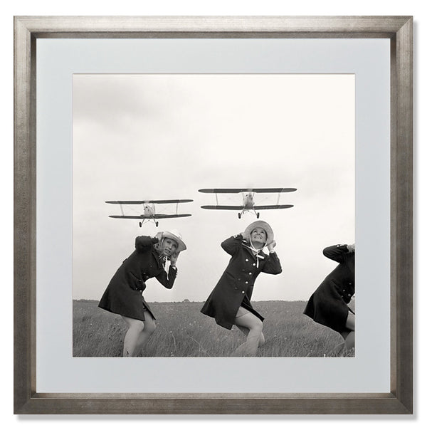 "Rothman's Biplanes Smith & Co Galleries 24"" x 24"" Warm Silver 5mm Luxe Floated - Strivezy"