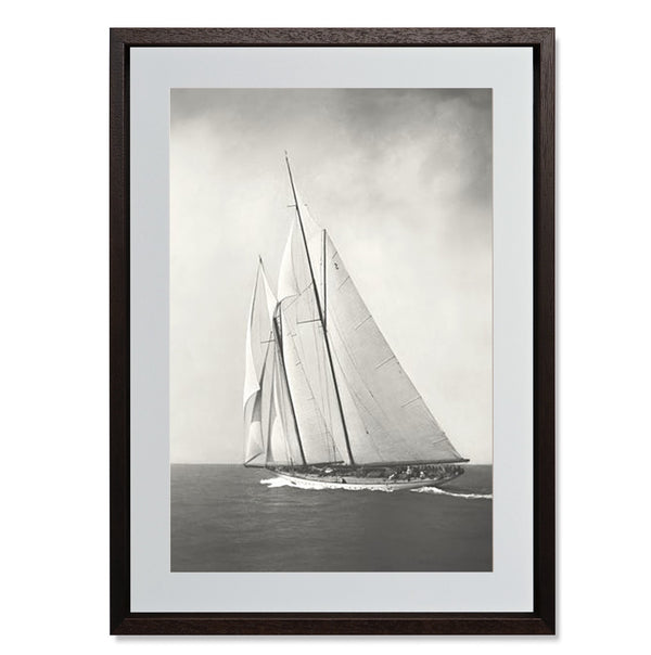 "Sailing Off Cowes II Smith & Co Galleries 18"" x 24"" Modern Wood 5mm Luxe Floated - Strivezy"