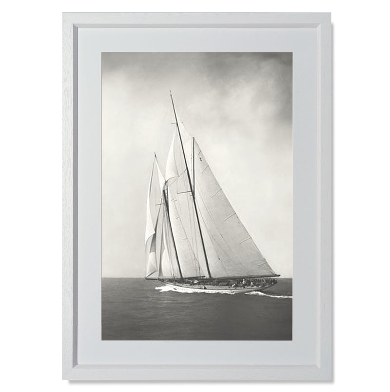 "Sailing Off Cowes II Smith & Co Galleries 18"" x 24"" White 5mm Luxe Floated - Strivezy"