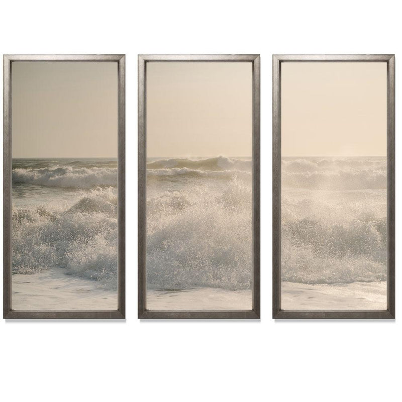 "Sam Scales - Surf Smith & Co Galleries 74"" x 50"" Warm Silver 2"" White Matt - Strivezy"