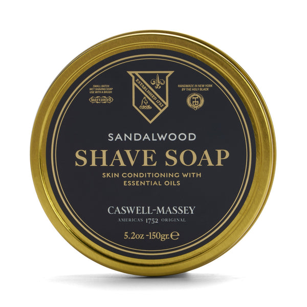 Sandalwood Hot-Pour Shave Soap Tin 150g Caswell-Massey - Strivezy