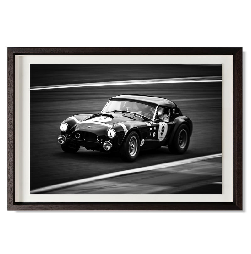 "Shelby Cobra Smith & Co Galleries 24"" x 16"" Black 5mm Luxe Floated - Strivezy"