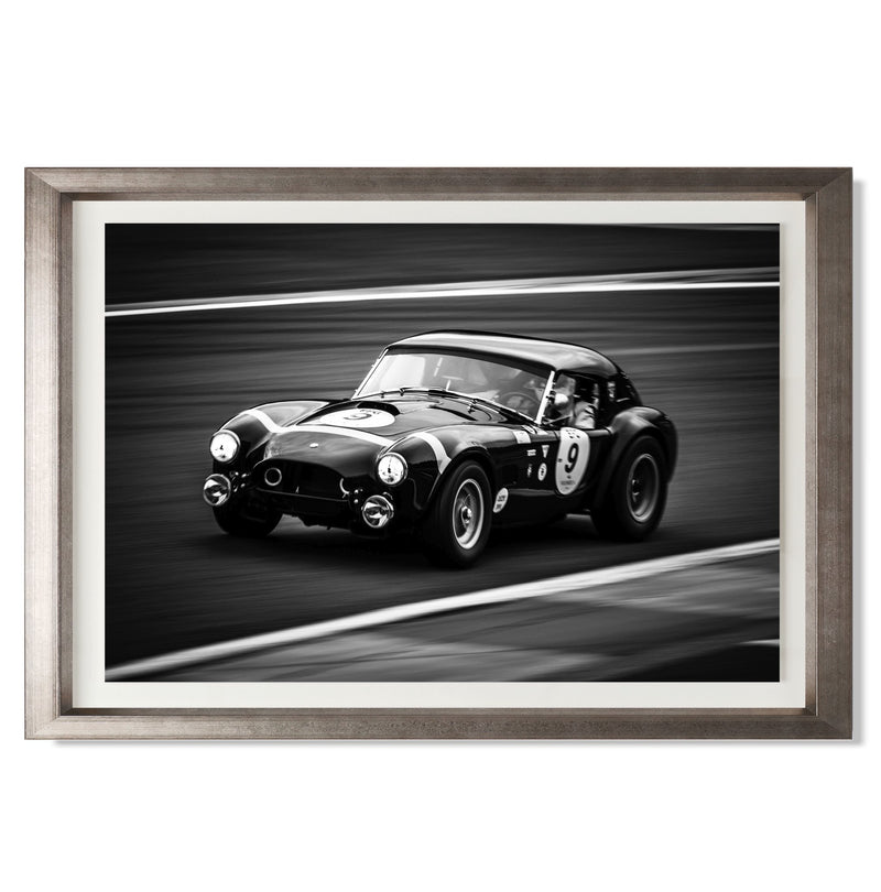 "Shelby Cobra Smith & Co Galleries 24"" x 16"" Warm Silver 5mm Luxe Floated - Strivezy"